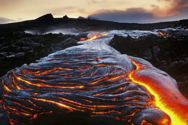 Flowing Lava, Hawaii Volcanoes National Park, Hawaii | Earth's Surface