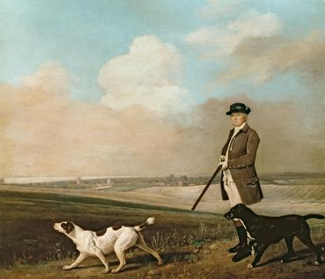 Sir John Nelthorpe, 6th Baronet out Shooting with his Dogs in Barton Field, Lincolnshire, 1776