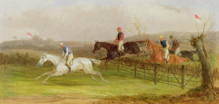 Steeplechasing: The Hurdle, 1869