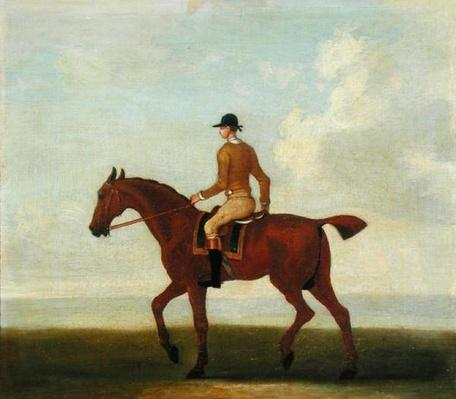 A Chestnut Racehorse with Jockey Up, c.1730