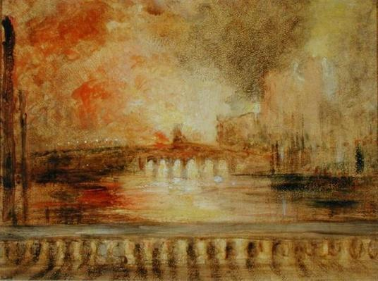 The Burning of the Houses of Parliament, previously attributed to J.M.W. Turner