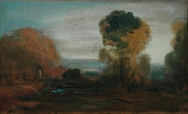 Landscape with Trees, previously attributed to J.M.W. Turner