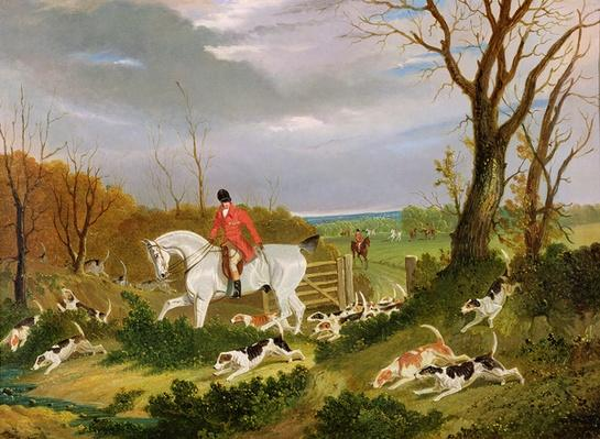 The Suffolk Hunt - Going to Cover near Herringswell