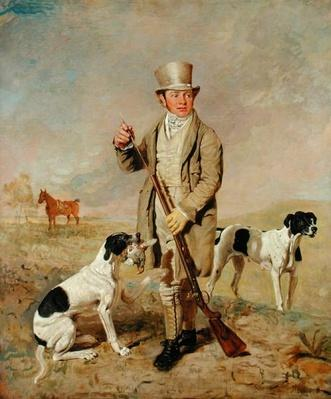 Richard Prince, with Damon, the late Colonel Mellish's Pointer