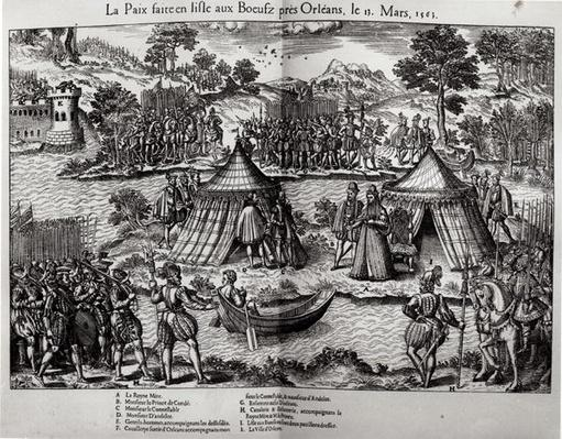 The Peace Made on L'Isle aux Boeufs, near Orleans on 13th March 1563