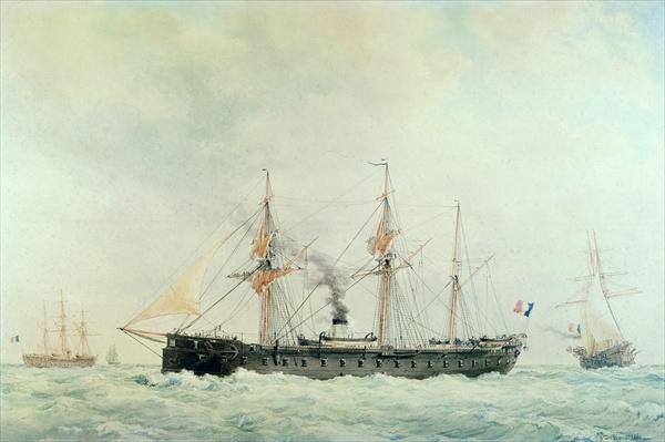 The French Battleship, 'La Gloire', 1880