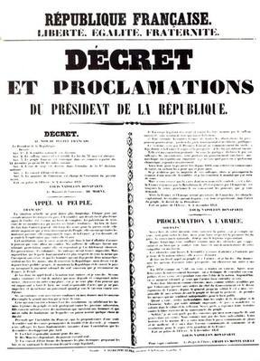 Decree and Proclamation by Louis Napoleon Bonaparte III