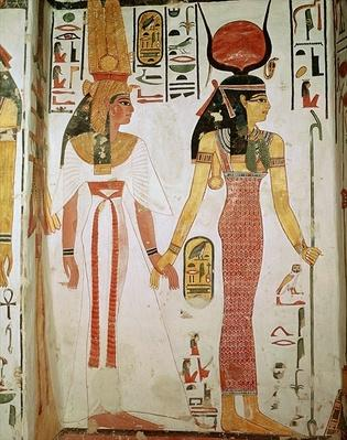 Isis and Nefertari, from the Tomb of Nefertari, New Kingdom