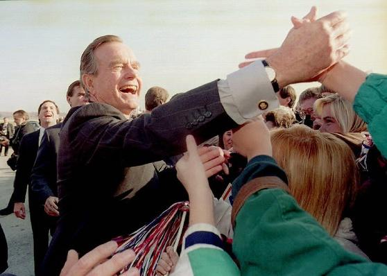 President George H.W. Bush Greets Supporters | U.S. Presidential Elections: 1992