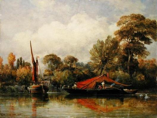 Opposite my House at Barnes, 1862
