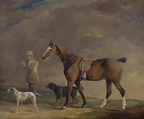 A Sportsman with Shooting Pony and Gun Dogs