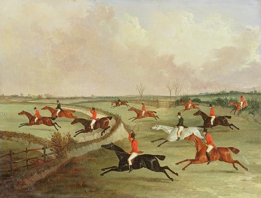 The Quorn Hunt in Full Cry: Second Horses, after a painting by Henry Alken