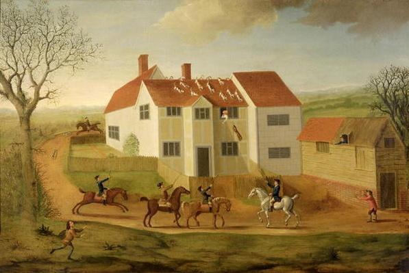 John Sidey and his Hounds at a Farmhouse near Hadleigh, Suffolk
