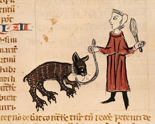 Ms 372 fol.241v A Bear Keeper, from 'Decrets de Gratien'