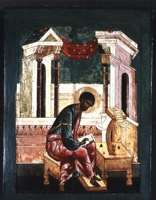Icon of Saint Luke the Evangelist