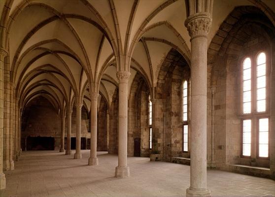 The Salle des Hotes, interior view of the Abbey