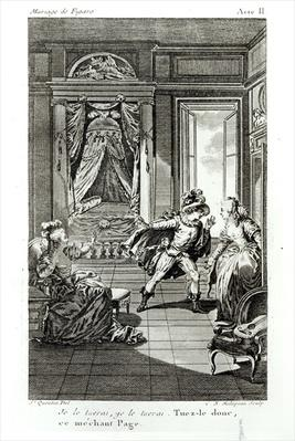 'I am going to kill him...', scene from act II of 'The Marriage of Figaro' by Pierre-Augustin Caron de Beaumarchais