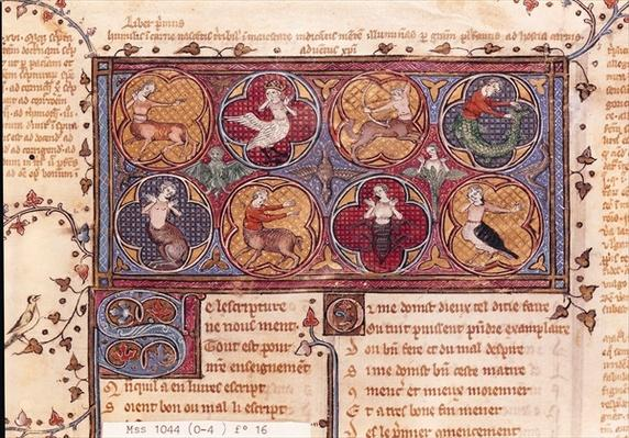 Ms 1044 f.16 Metamorphoses, from Ovid Moralise written by Chretien Legouais