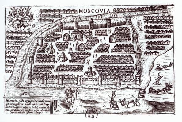 Plan of Moscow, 1628