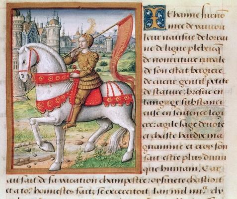 Ms 17 f.76 Joan of Arc from 'Vie des Femmes Celebres', c.1505