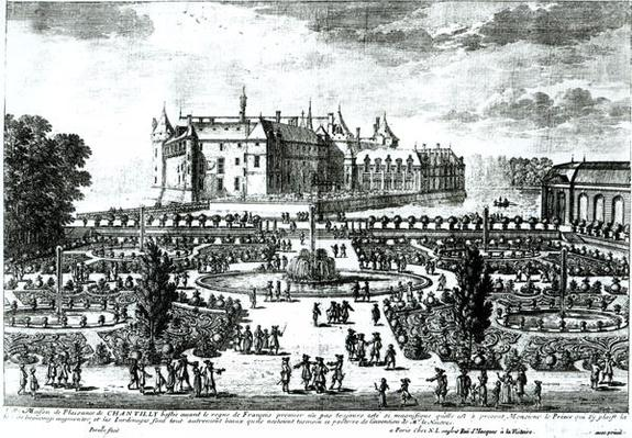 The Chateau de Chantilly and the gardens designed by Andre le Notre