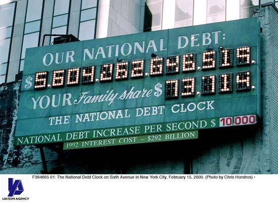 National Debt Clock in New York City | The Study of Economics
