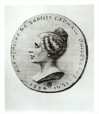 Medal depicting Sophie Germain