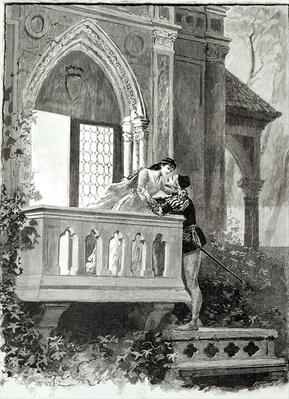 Scene from Act II of Romeo and Juliet, performed at the Theatre National de l'Opera, 1888