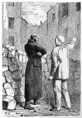 Jean Valjean Gets his Revenge, illustration from 'Les Miserables' by Victor Hugo