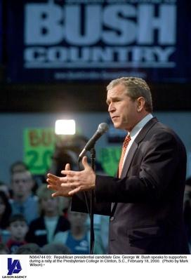 George W. Bush Attends Rally at Presbyterian College | U.S. Presidential Elections: 2000