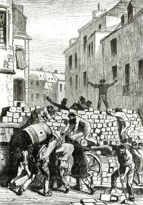 The Barricade, illustration from 'Les Miserables' by Victor Hugo
