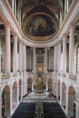 Interior view of the chapel, 1699-1710