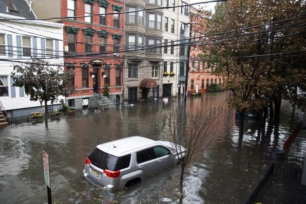 "Flooded streets, Hoboken NJ, Hurricane ""Sandy"" 