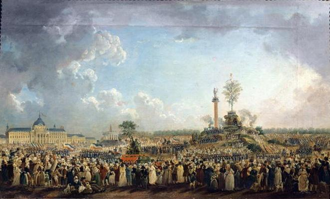 The Festival of the Supreme Being at the Champ de Mars, 8th June 1794
