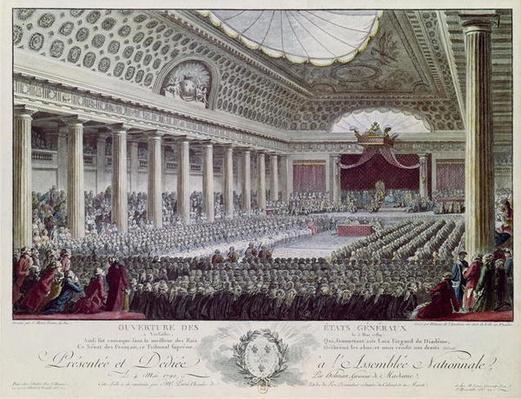 Opening of the Estates General at Versailles, 5th May 1789