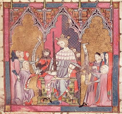 F.3r The King Administering Justice, from 'Justiniani in Fortiatum'