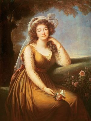 Comtesse du Barry, holding a rose