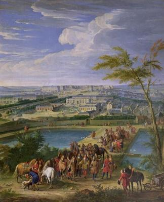 The Town and Chateau of Versailles from the Butte de Montboron, where Louis XIV