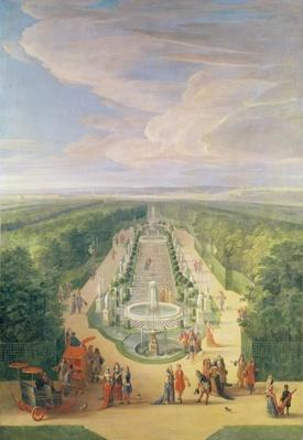 Perspective View of the Grove from the Galerie des Antiques at Versailles, 1688