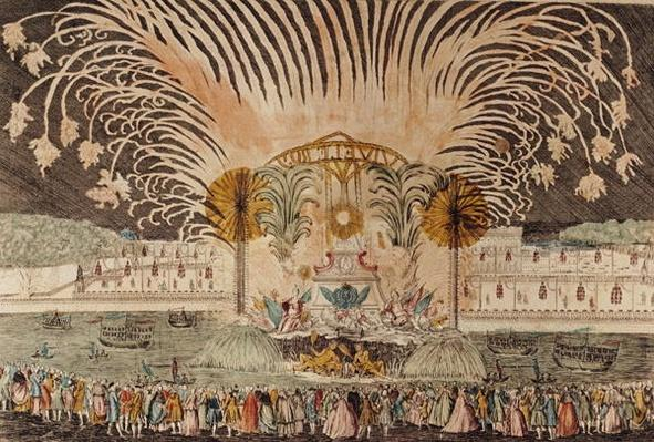 Firework Display in the Place Louis XV on the Occasion of the Dedication of the Equestrian Statue of the King, 20th June 1763