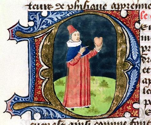 Fol.38v The Heart, from 'Traite de Medecine' by Aldebrande de Florence, 1356