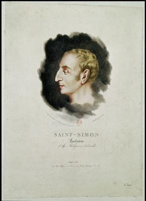 Portrait of Claude Henri de Rouvroy, Count Saint-Simon