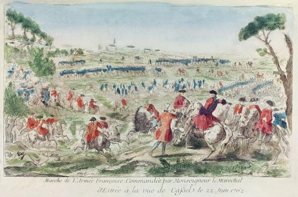 The French Army Commanded by Marshal d'Estrees at Cassel, 22nd June 1762