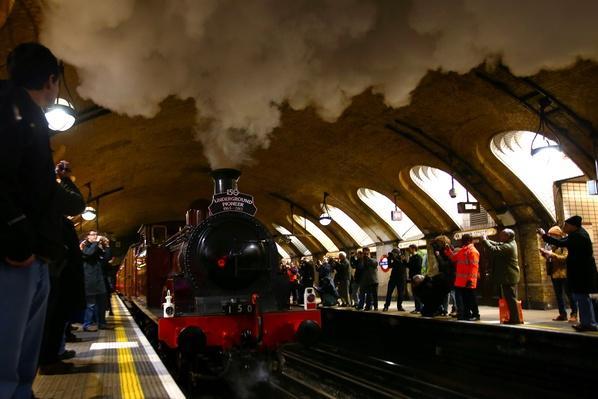 A Restored Steam Train Runs through The London Underground | Evolution of the Railroad (Engine)