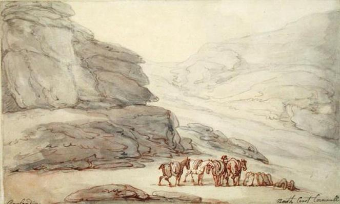 Rocky scene on the North Coast, Cornwall