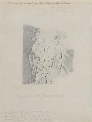 Drawing for the map of the moon, 1794