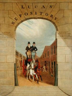 Schooling a Pair in a Brake at Lucas's Yard, Clerkenwell