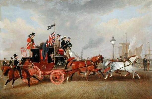 'The Last of the Mail Coaches': The Edinburgh-London Royal Mail at Newcastle-upon-Tyne, 5th July 1847, 1848