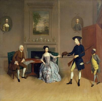 John Orde, with his wife Anne, and his eldest Son, William, of Morpeth, Northumberland, c.1754-56