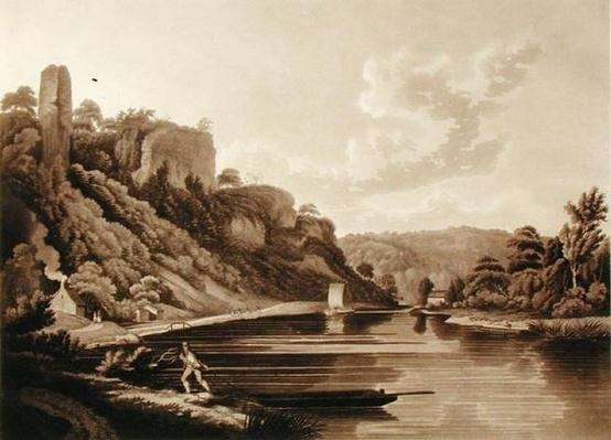 View of the New Weir on the River Wye, plate 11 from 'Views of the River Wye', engraved by F. Jukes, 1800